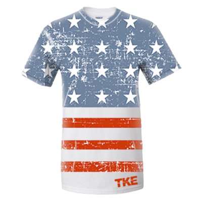 Distressed American Flag Full Front Print - SUB