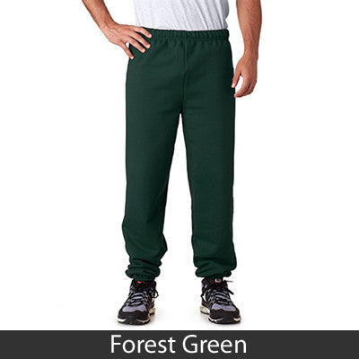 Greek Sweatpants with Vertical Letters - Jerzees 973 - TWILL