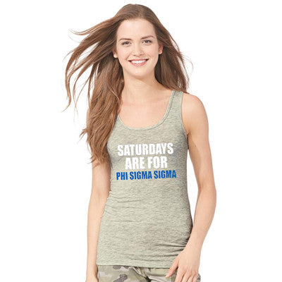 Saturdays Are For the Greeks Unisex Tank Top - Next Level 3633 - CAD