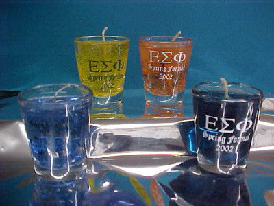 Short Glass with Gel Candle - SP