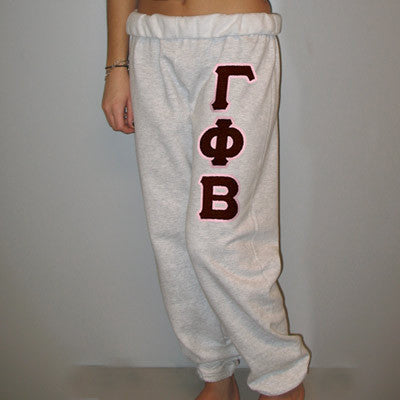 Gamma Phi Beta Sorority Sweatpants - Jerzees 973 - TWILL