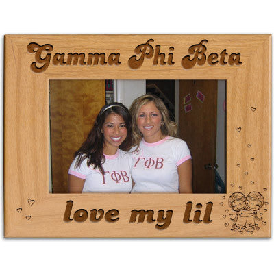 Gamma Phi Beta Love My Lil Picture Frame - PTF146 - LZR