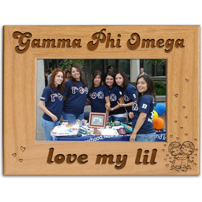 Gamma Phi Omega Love My Lil Picture Frame - PTF146 - LZR