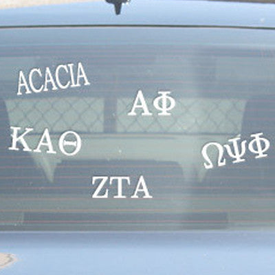 Greek Multi-Cal Stickers $ 6.99 · Greek Car Window Sticker - compucal - CAD