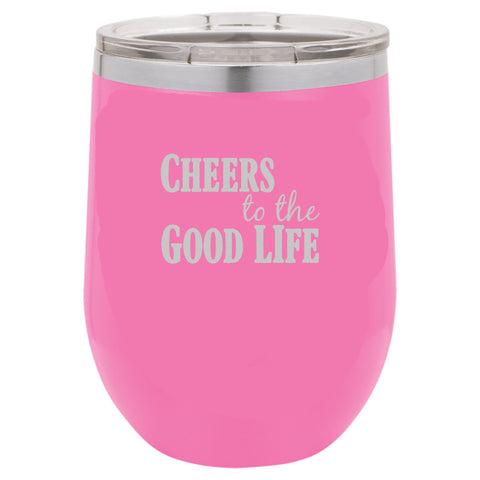 Polar Camel 12oz Short Tumbler - Cheers to the Good Life - LTM 852