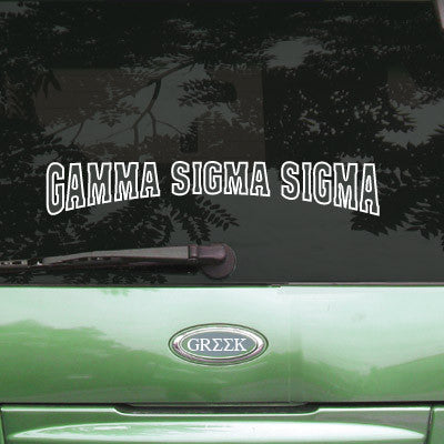 Gamma Sigma Sigma Stadium Sticker - Angelius Pacific apsc