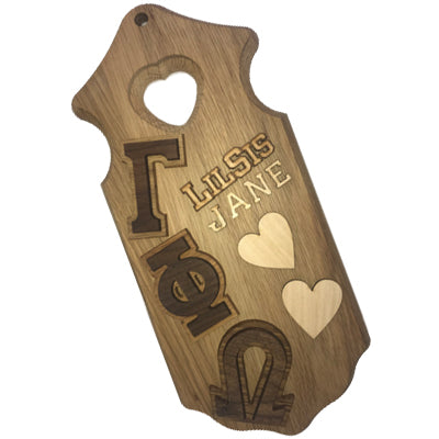 Greek Paddle Package - Large Heart Plaque