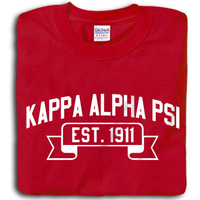 Kappa Alpha Psi Vintage Football Printed T-Shirt - Gildan 5000 - CAD