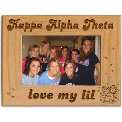 Kappa Alpha Theta Love My Lil Picture Frame - PTF146 - LZR
