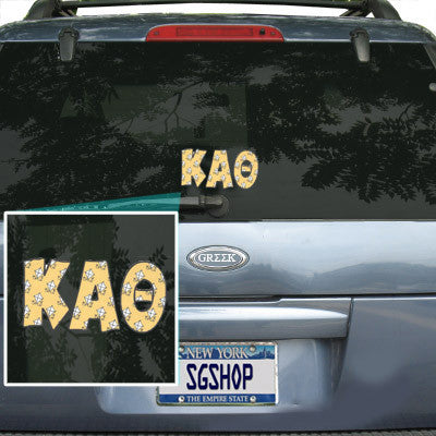 Kappa Alpha Theta Mascot Car Sticker