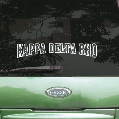 Kappa Delta Rho Stadium Sticker - Angelius Pacific apsc