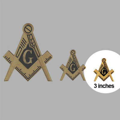 Masons Embroidered Patch Crest - 3-inch