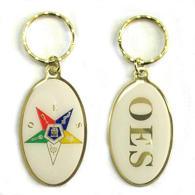 OES Oval Keychain