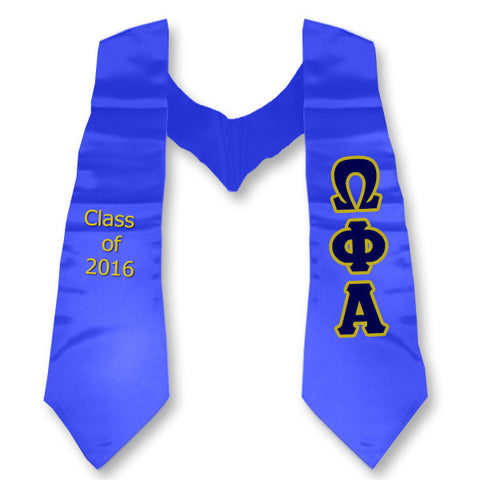 Omega Phi Alpha Graduation Stole with Twill Letters - TWILL