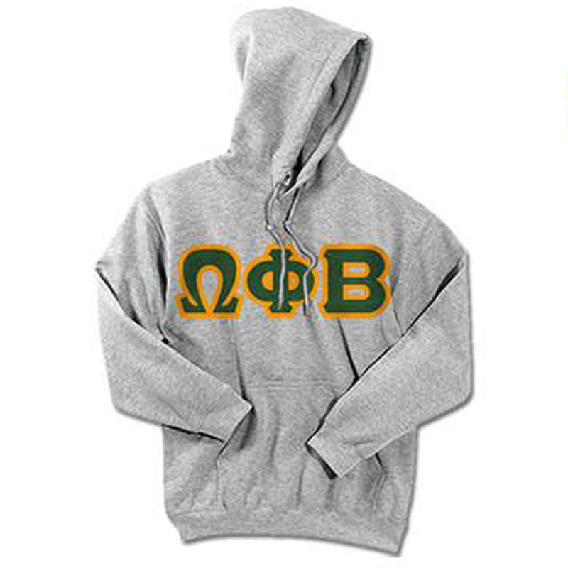 Omega Phi Beta Standards Hooded Sweatshirt - $25.99 Gildan 18500 - TWILL
