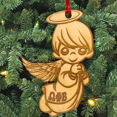 Omega Phi Beta Angel Ornament