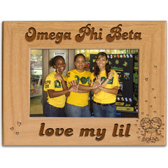 Omega Phi Beta Love My Lil Picture Frame - PTF146 - LZR