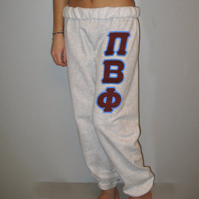 Pi Beta Phi Sorority Sweatpants - Jerzees 973 - TWILL