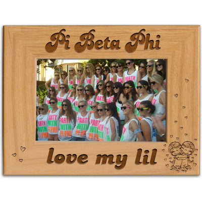 Pi Beta Phi Love My Lil Picture Frame - PTF146 - LZR