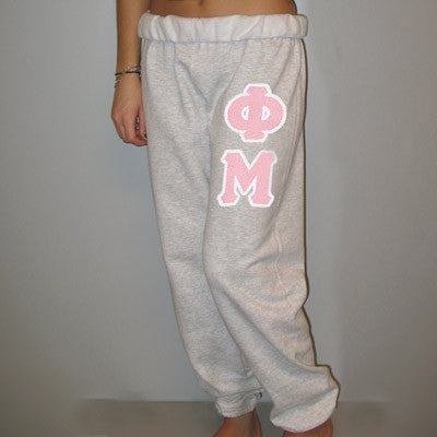 Phi Mu Sorority Sweatpants - Jerzees 973 - TWILL