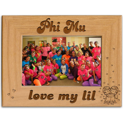 Phi Mu Love My Lil Picture Frame - PTF146 - LZR