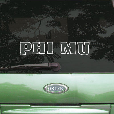 Phi Mu Stadium Sticker - Angelius Pacific apsc - CAD