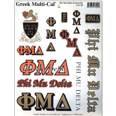 Phi Mu Delta Multi-Cal Stickers