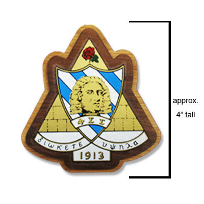 Phi Sigma Sigma Large Wooden Crest - 503