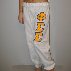 Phi Sigma Sigma Sorority Sweatpants - Jerzees 973 - TWILL
