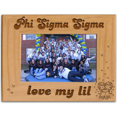 Phi Sigma Sigma Love My Lil Picture Frame - PTF146 - LZR