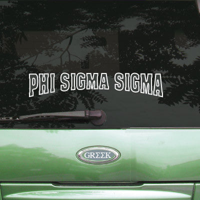 Phi Sigma Sigma Stadium Sticker - Angelius Pacific apsc