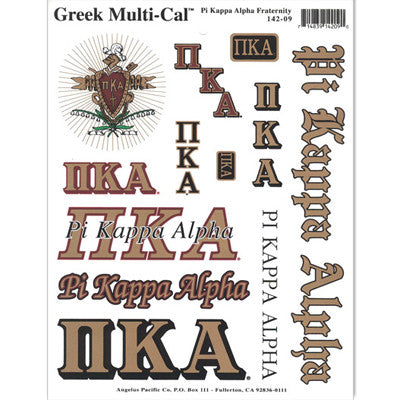 Pi Kappa Alpha Multi-Cal Stickers