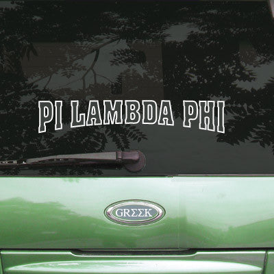 Pi Lambda Phi Stadium Sticker - Angelius Pacific apsc