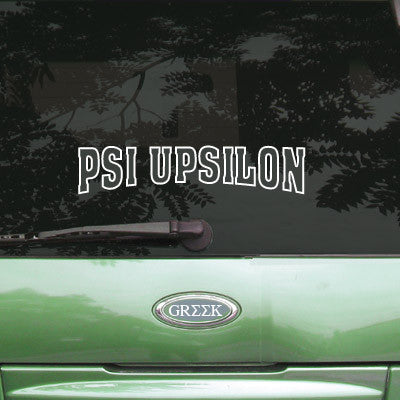 Psi Upsilon Stadium Sticker - Angelius Pacific apsc - CAD