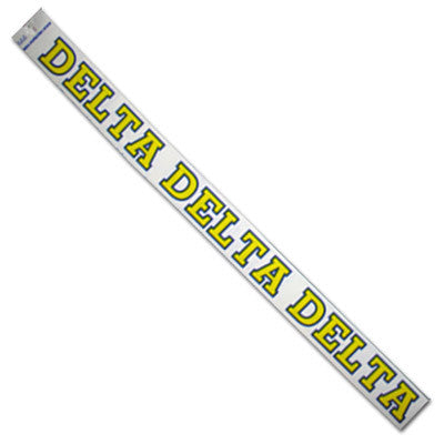 Delta Delta Delta Car Decal - Rah Rah Co. rrc