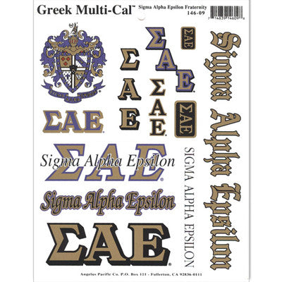Sigma Alpha Epsilon Multi-Cal Stickers