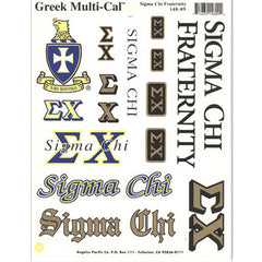 Sigma Chi Multi-Cal Stickers