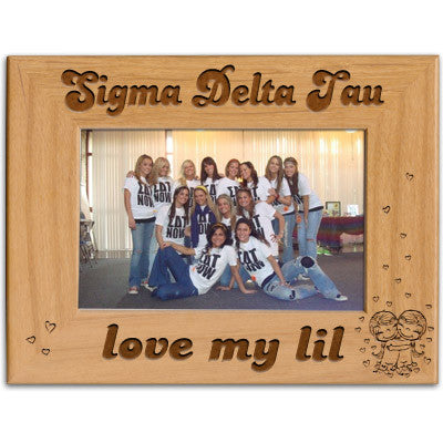 Sigma Delta Tau Love My Lil Picture Frame - PTF146 - LZR