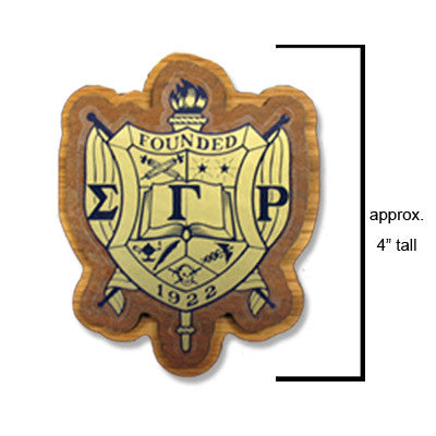 Sigma Gamma Rho Large Wooden Crest - 503