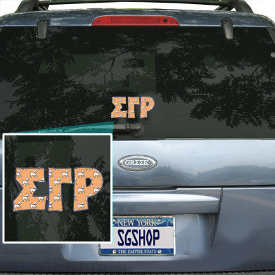 Sigma Gamma Rho Mascot Car Sticker
