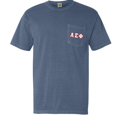 Fraternity Comfort Colors Printed T-Shirt with Pocket - Comfort Colors 6030 - DIG