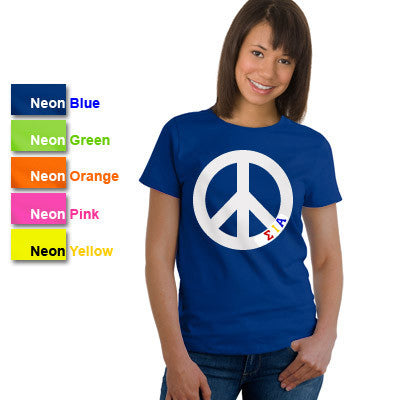 Sigma Iota Alpha Neon Peace Sign Printed Tee - CAD