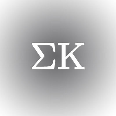 Sigma Kappa Car Window Sticker - compucal - CAD