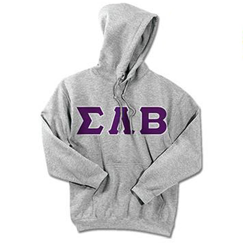 Sigma Lambda Beta Standards Hooded Sweatshirt - $25.99 Gildan 18500 - TWILL