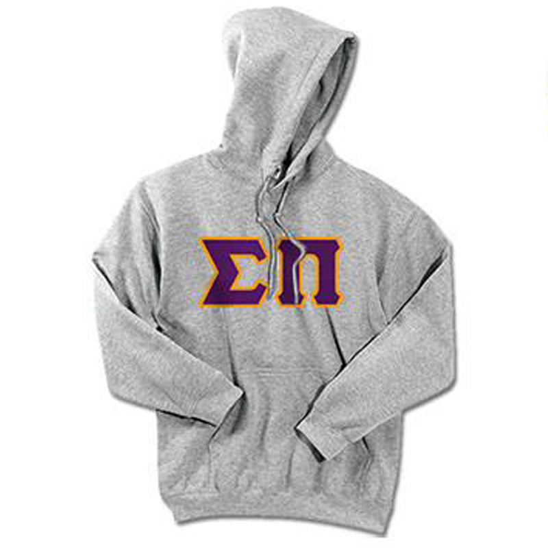 Sigma Pi Standards Hooded Sweatshirt - $25.99 Gildan 18500 - TWILL
