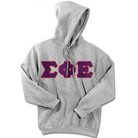 Sigma Phi Epsilon Standards Hooded Sweatshirt - $25.99 Gildan 18500 - TWILL