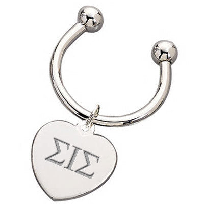 Sigma Iota Sigma Heart Key Ring - McCartney mc835-G101