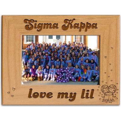 Sigma Kappa Love My Lil Picture Frame - PTF146 - LZR