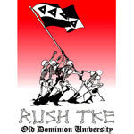 Skeletons Raising Flag Rush Shirt