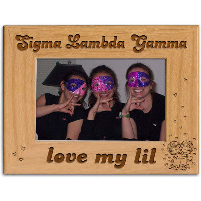 Sigma lambda gamma love my lil picture frame greek accessories for Lil flip jewelry collection